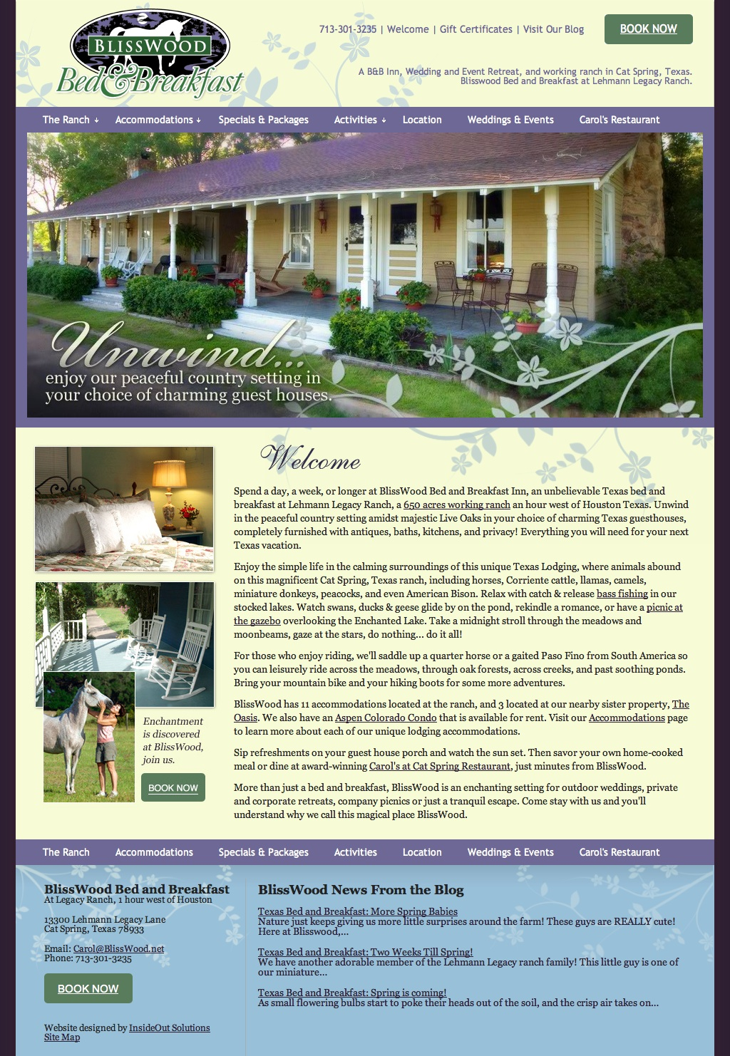 New Texas Bed and Breakfast Web site