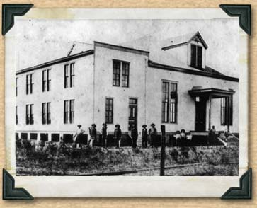 Black and white photo of Turner Hall in Car Spring Texas