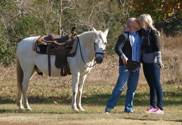A Romantic Horseback Proposal