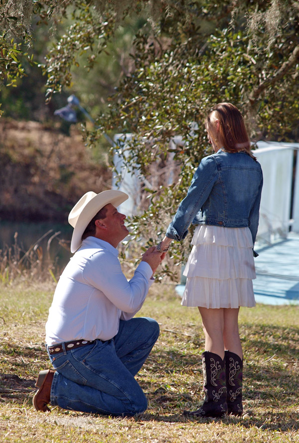 country western proposal in Texas