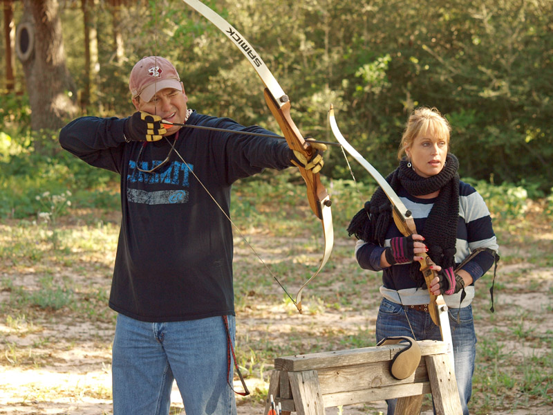 learn archery on a Texas ranch