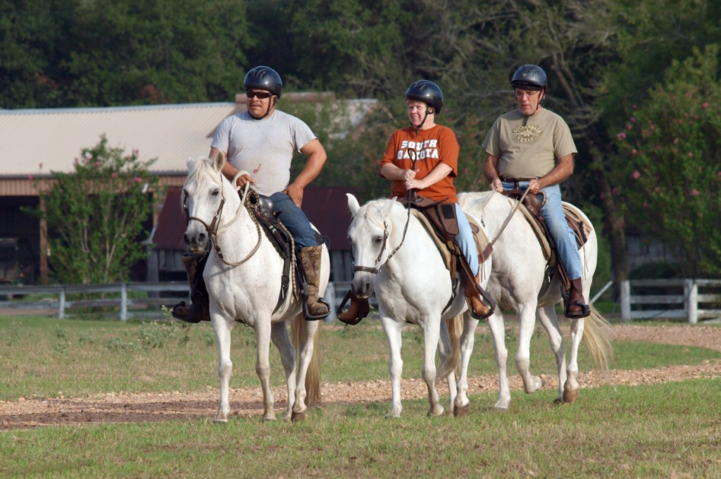 Texas horseback riding getaway