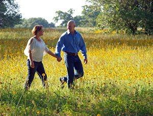 Honeymoon in Texas - Couple in a Field