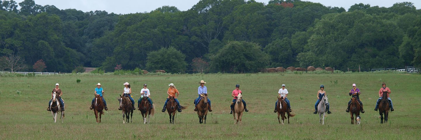 Horseback Riding at a Texas Retreat
