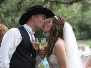 Texas Weddings - Kissing Bride and Groom