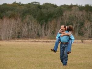 A couple in a field