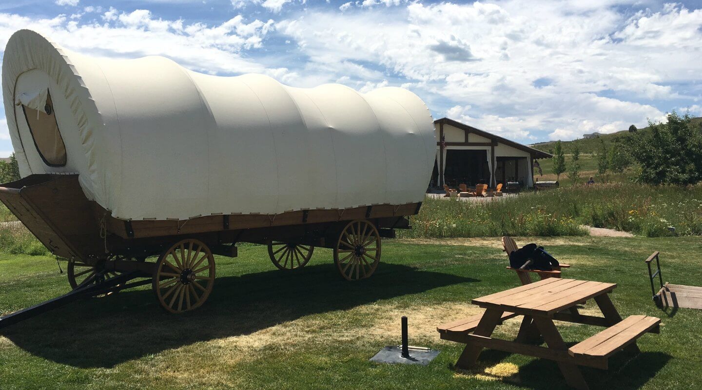 Conestoga Covered Wagon at BlissWood Ranch