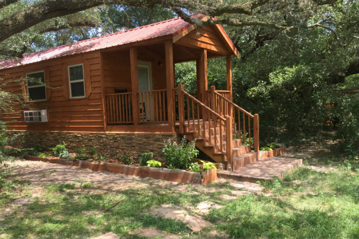 book our sunset pond cabin stay at our east texas bed