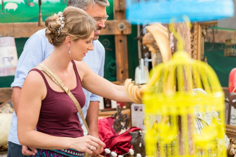 Couple at Texas Antique Fair