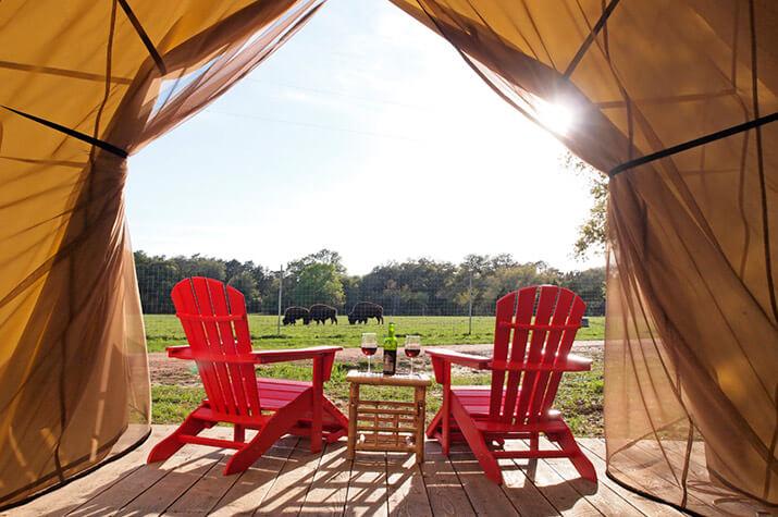 Grand Safari Tent front deck view