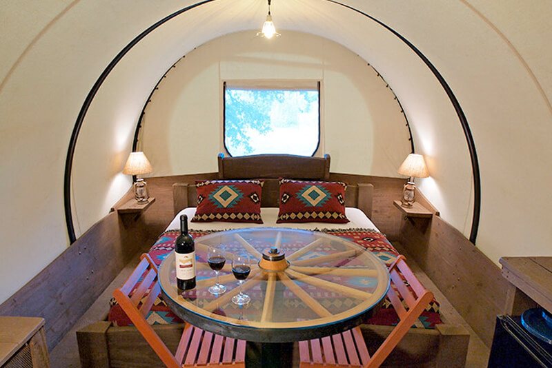 Texas glamping tent at Blisswood
