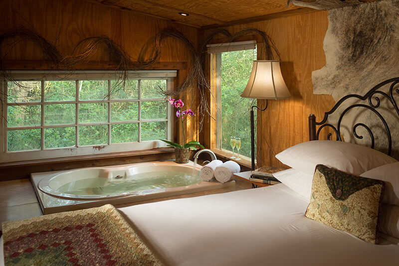 Guest room with Spa tub at our Texas bed and breakfast