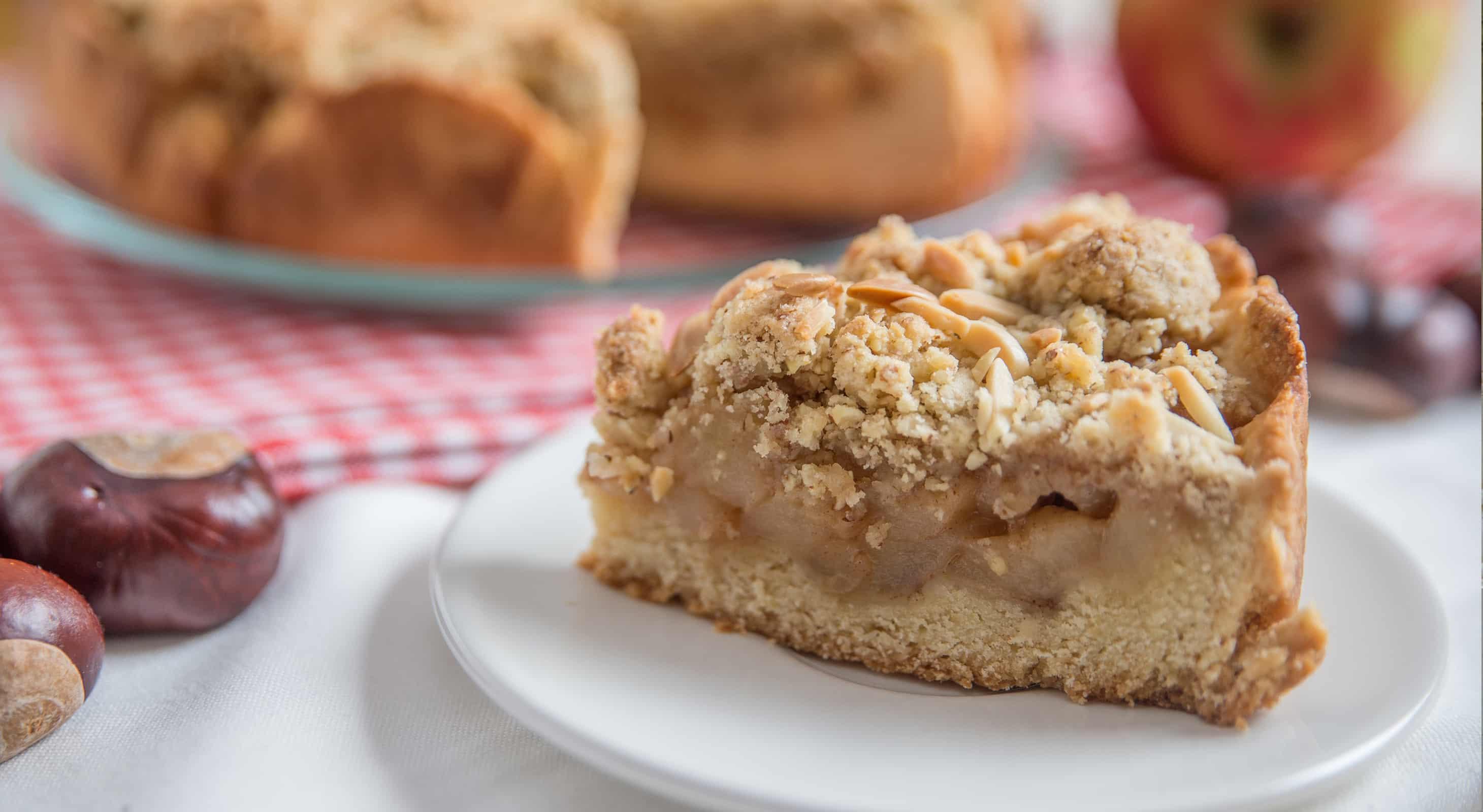 Slice of Streusel Apple Pie