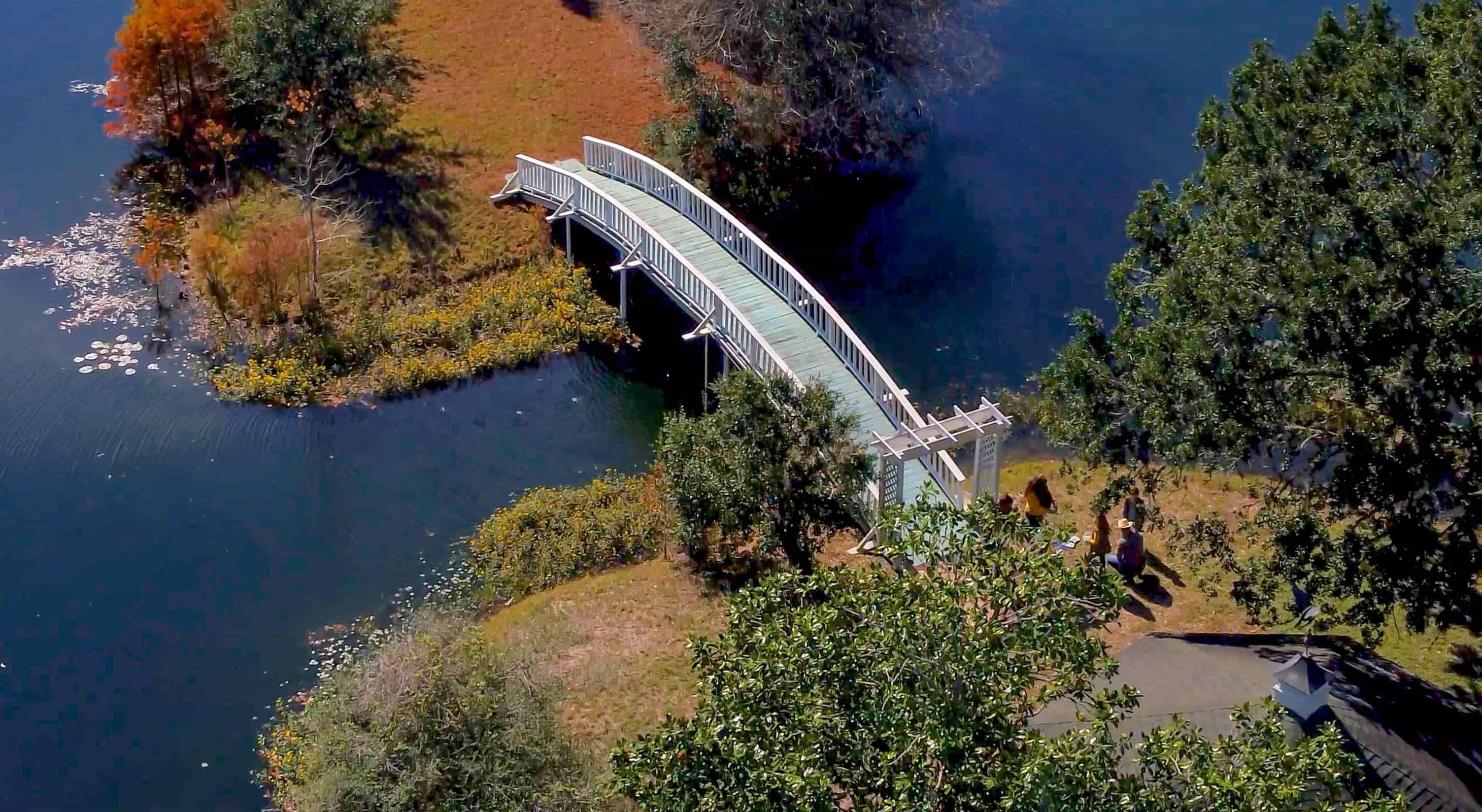 Bridge across the private lake