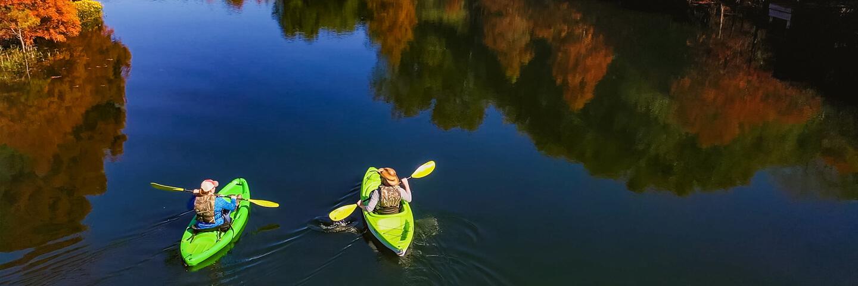Canoe on a lake