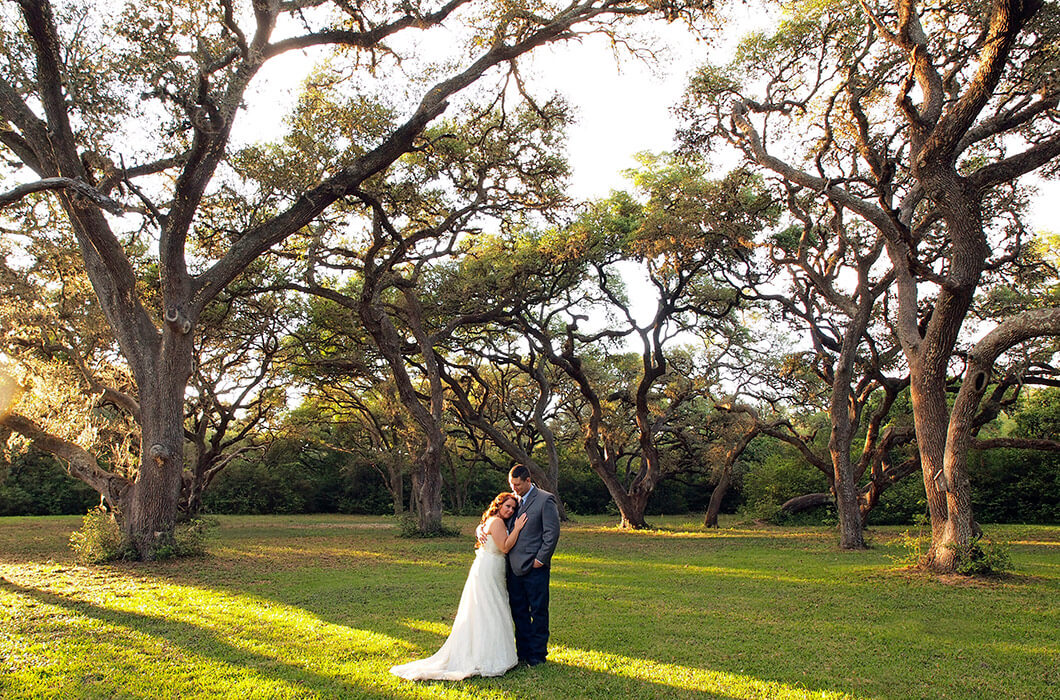 Bride and groom at their elopement in Texas