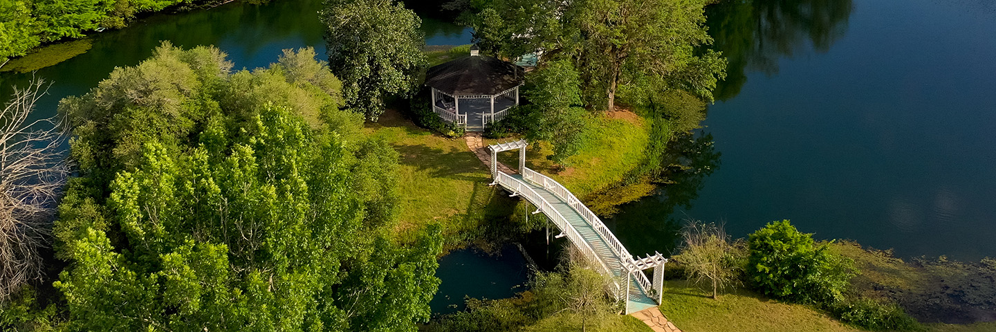 Lake Gazebo at Unusual Place to Stay in Texas