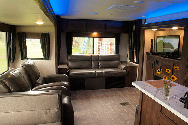 Cherokee RV seating area at a Ranch in Texas