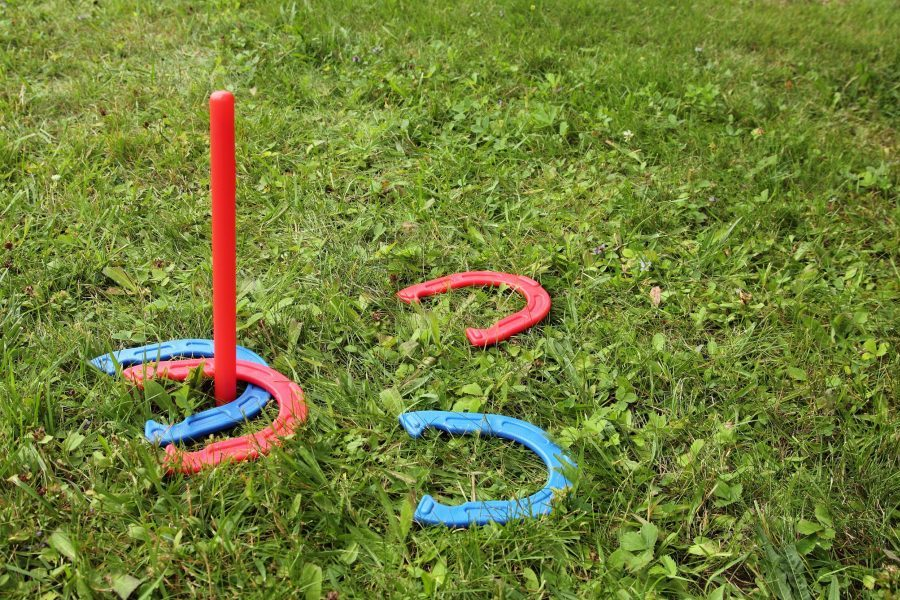 Outdoor Activities near Houston Include Playing Horseshoes