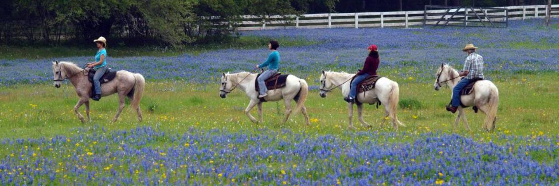 Horseback riding on Texas dude ranch