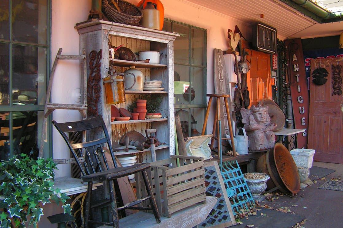 antique shop front