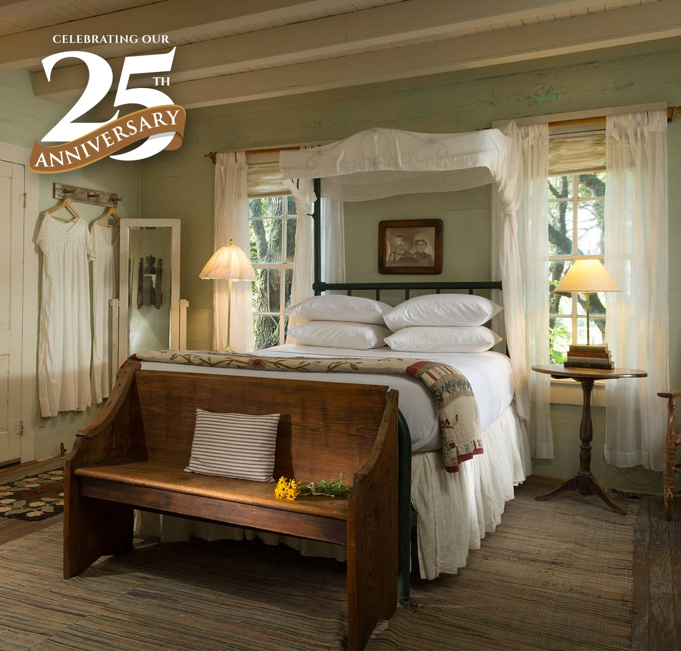 BlissWood bedroom celebrating 25th anniversary