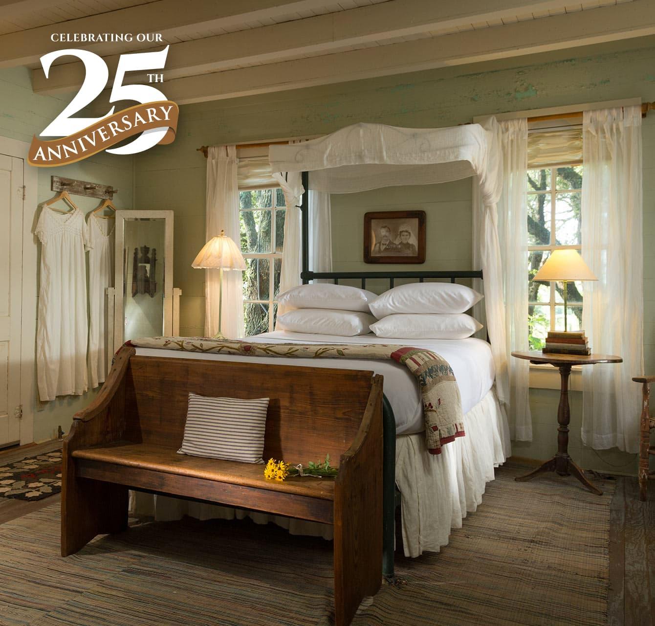 BlissWood bedroom celebrating 25th anniversary