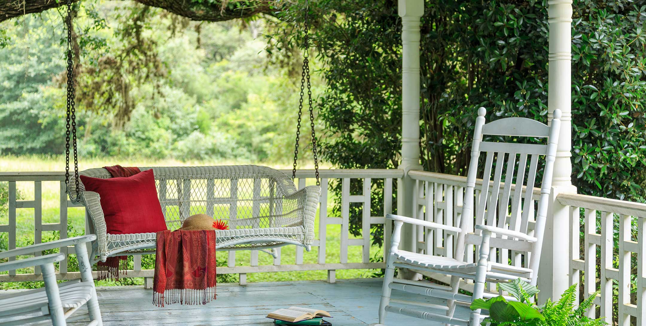 Lehmann House porch with swing