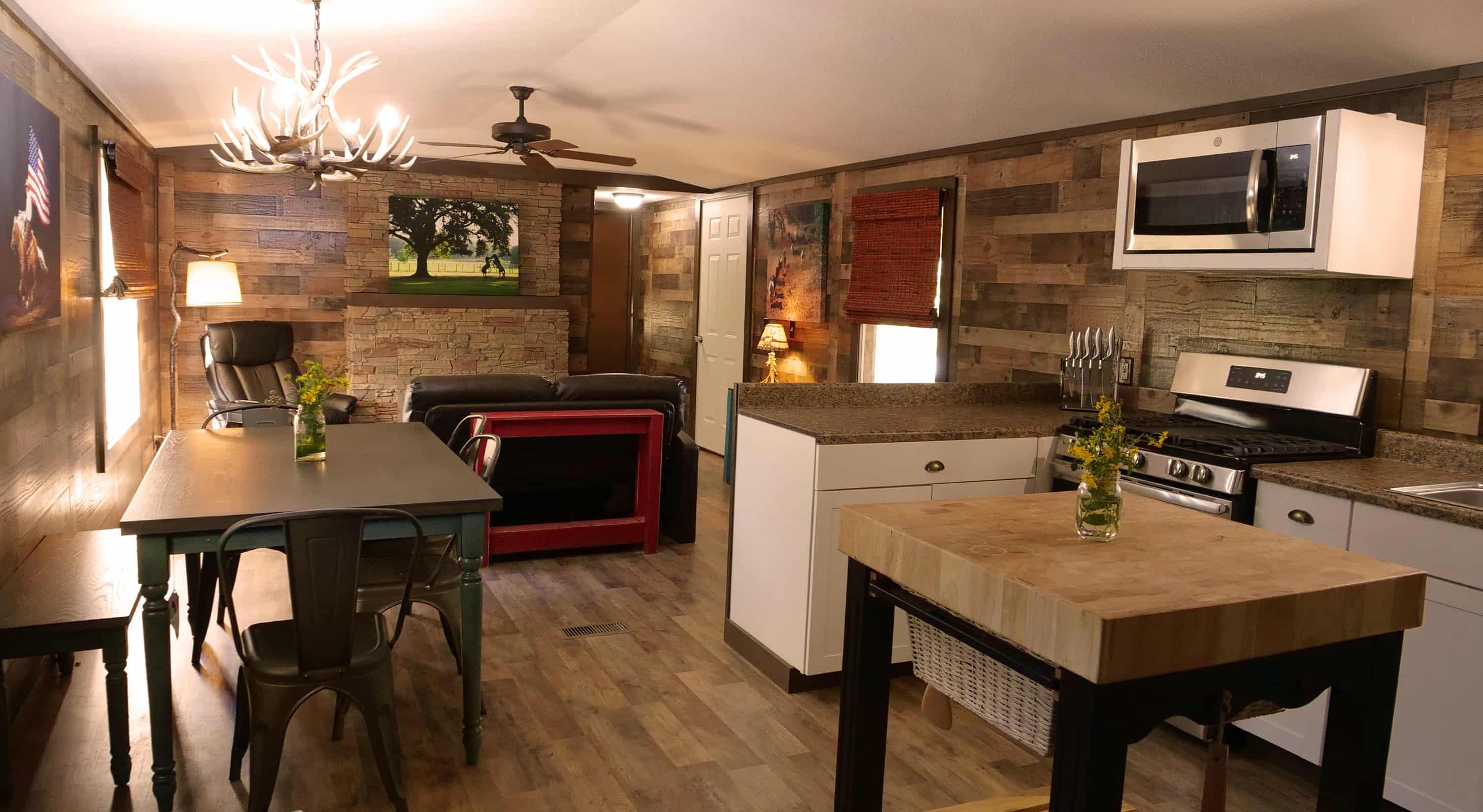 Hideaway Cabin living room