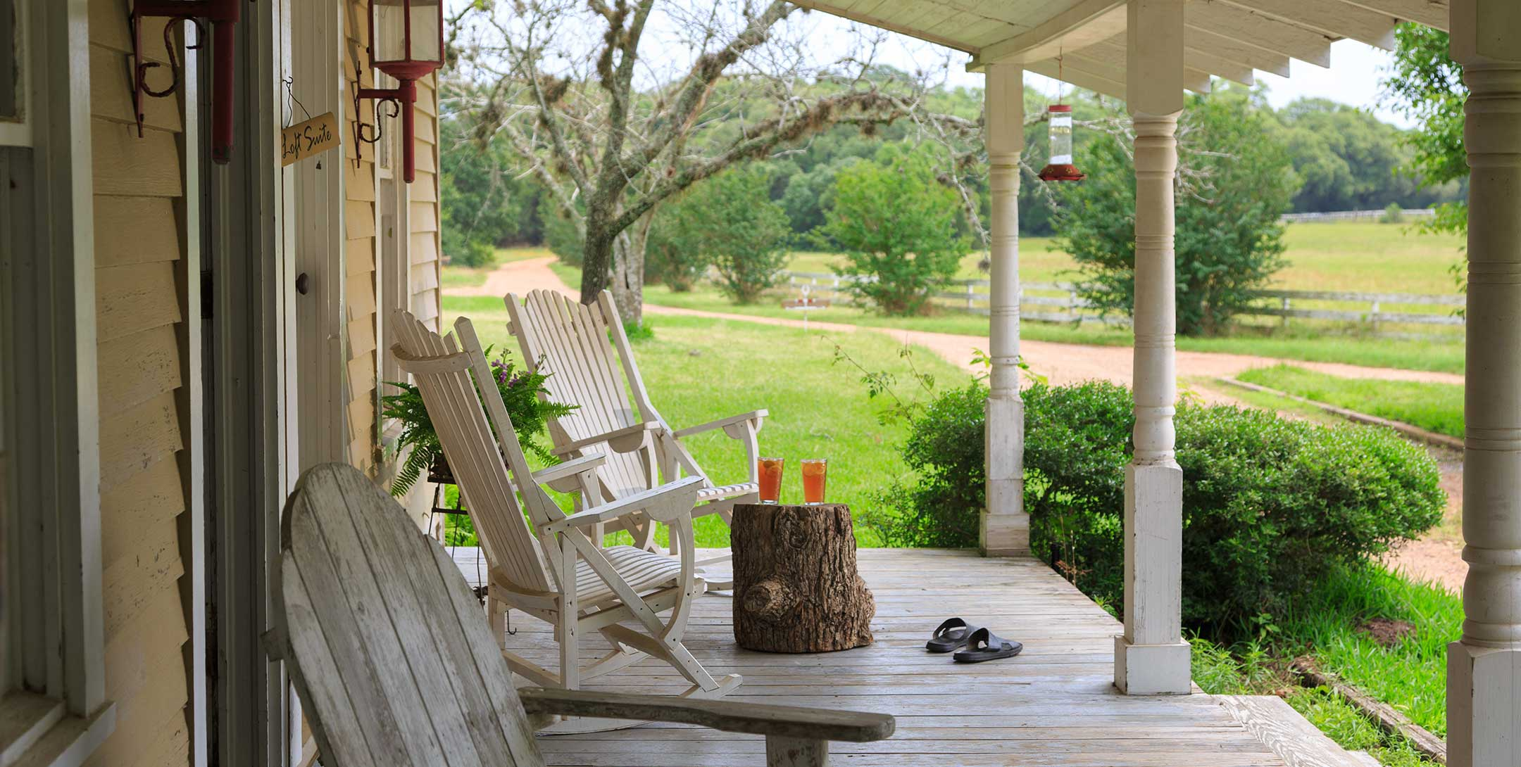 Dog Trot House front porch