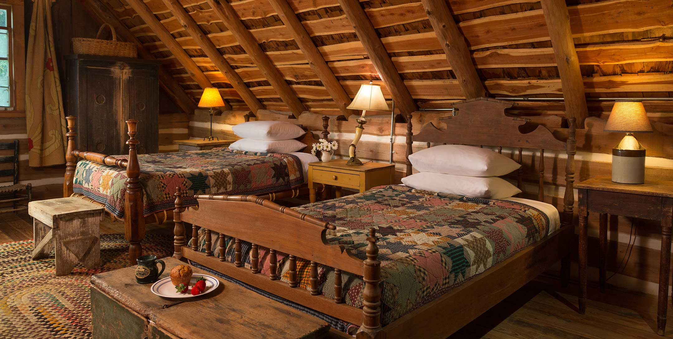 The Log Cabin twin beds
