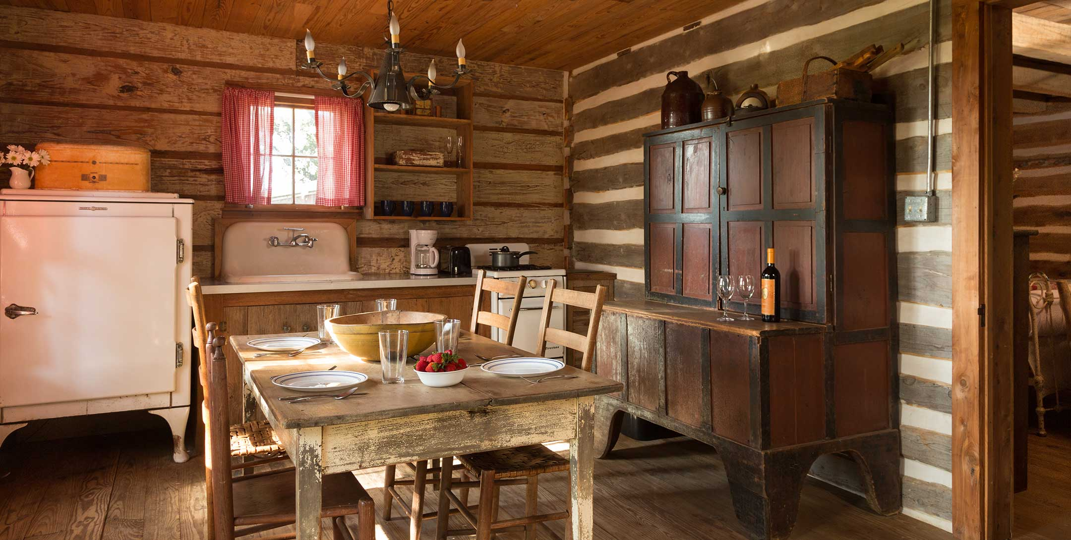 The Log Cabin kitchen