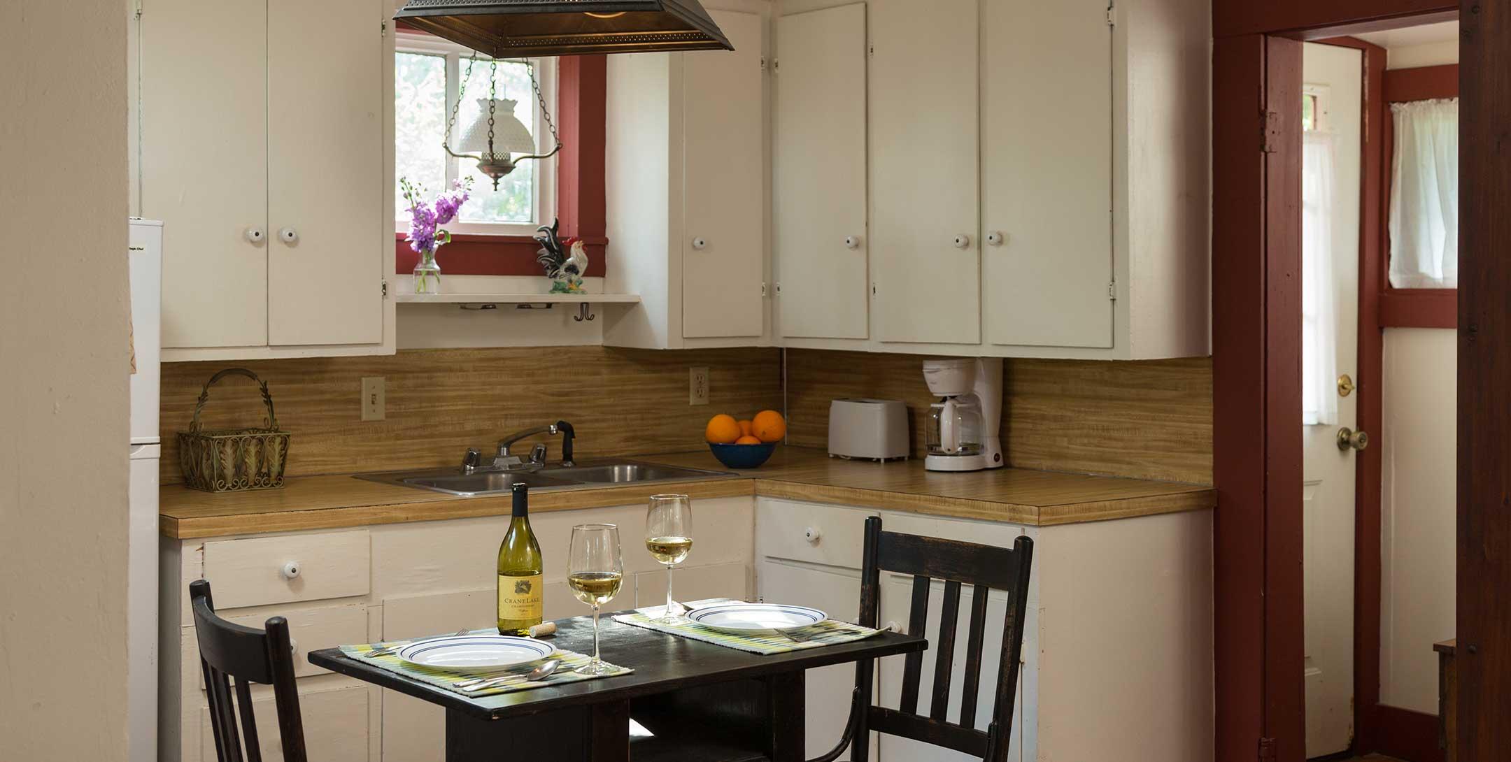 Mystic Woods Cabin kitchen