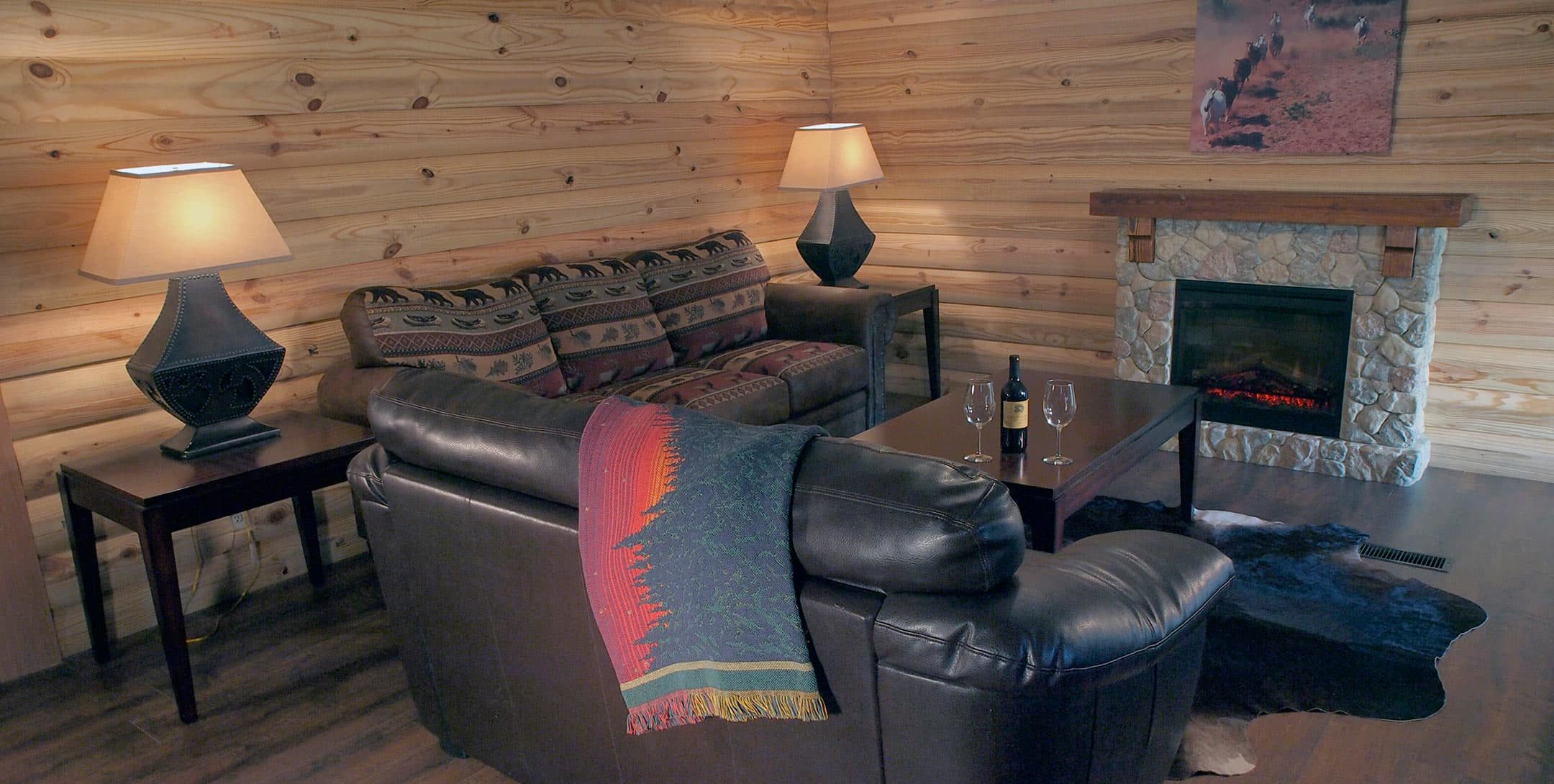 StarView Cowboy Cabin living room