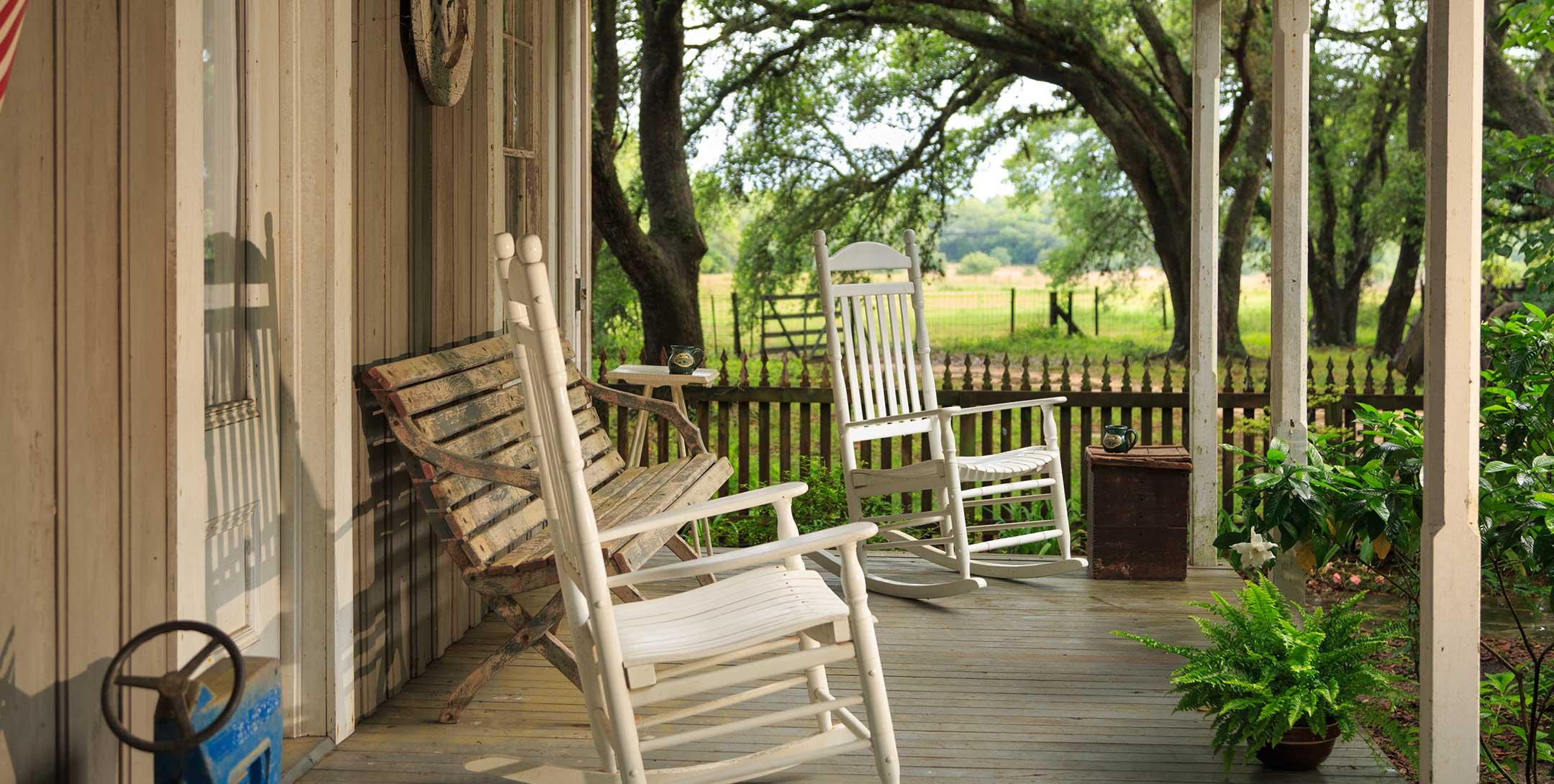 Texas Farm House porch