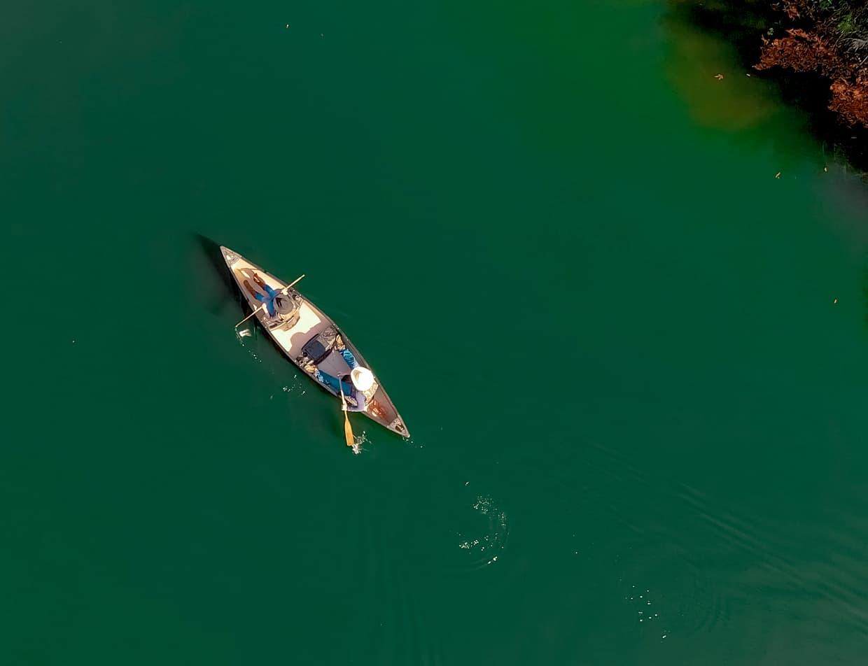 Canoe ride at Enchanted Lake on Texas ranch
