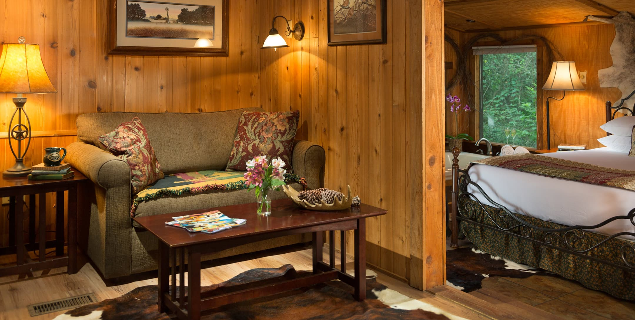 Living room in the Enchanted Cabin