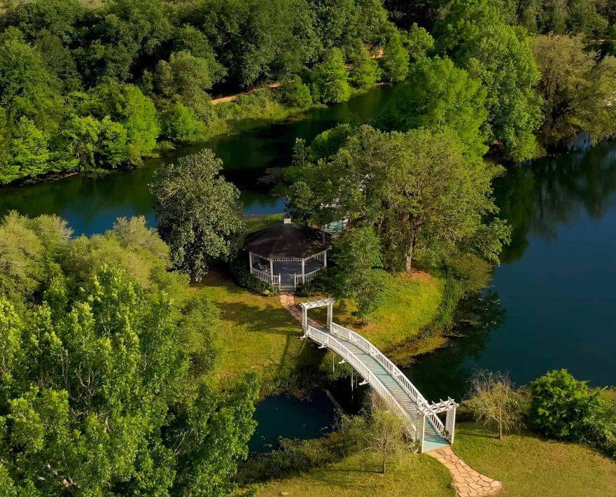 the Gazebo at Enchanted Lake