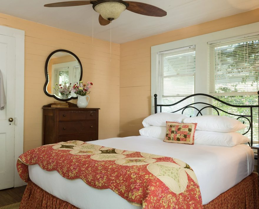 Bed in the Bluebonnet Bungalow