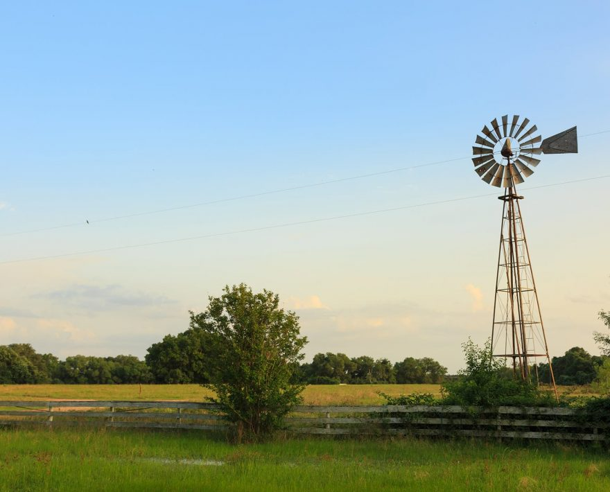 Windmill on the property at BlissWood Bed & Breakfast Ranch