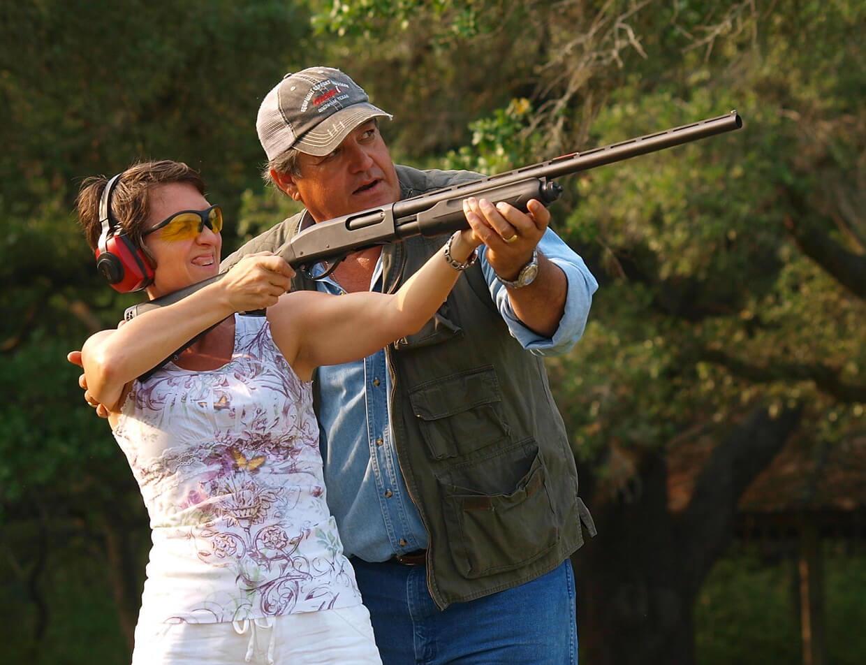 trapshooting activity at Texas guest ranch