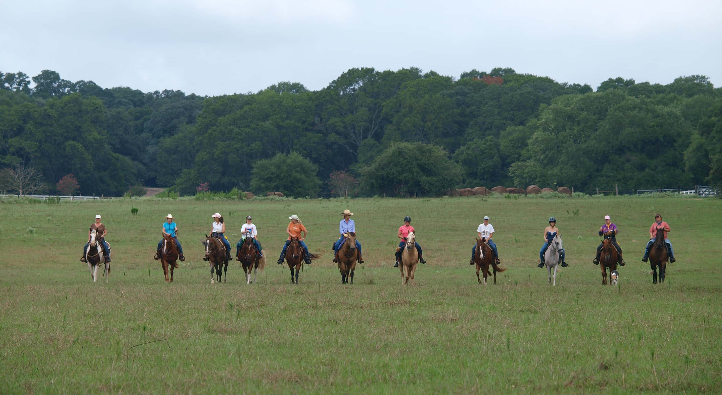 horseback ride on corporate retreats near Houston
