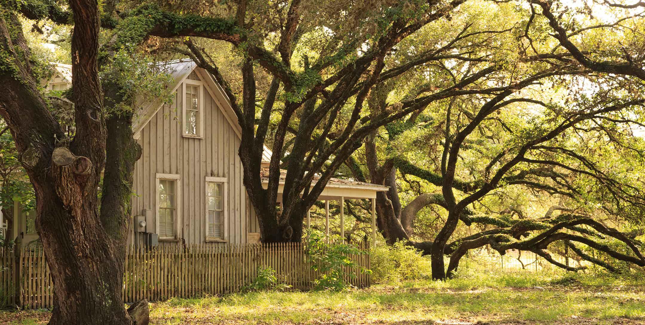 Exterior of Texas Farm House