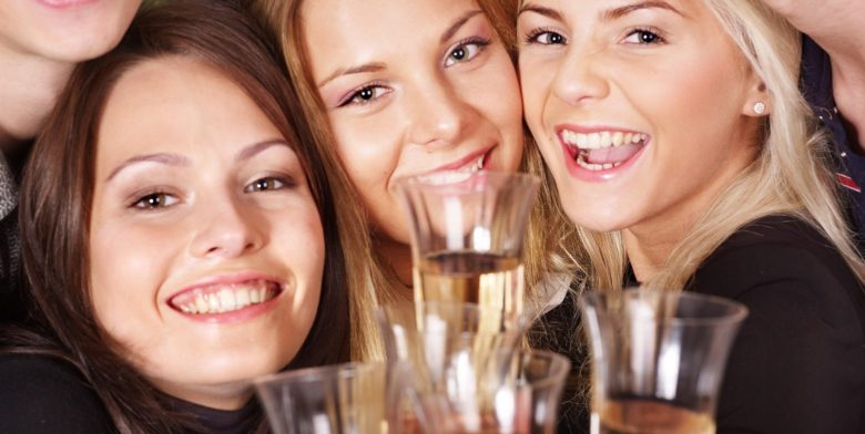 a girls night out with wine
