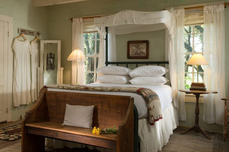 guest room at our ranch getaway in Texas