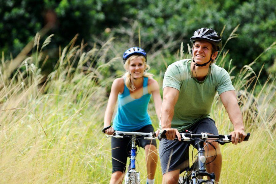 Couple on a Texas biking getaway